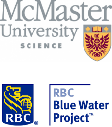 McMaster University Faculty of Science and RBC Blue Water Project logo